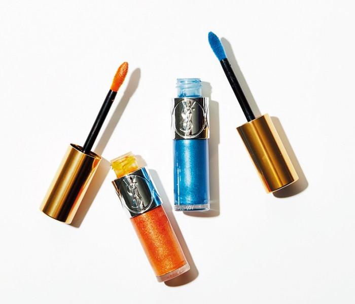 新色はオレンジとブルー! サンローランの輝くリキッドシャドウ