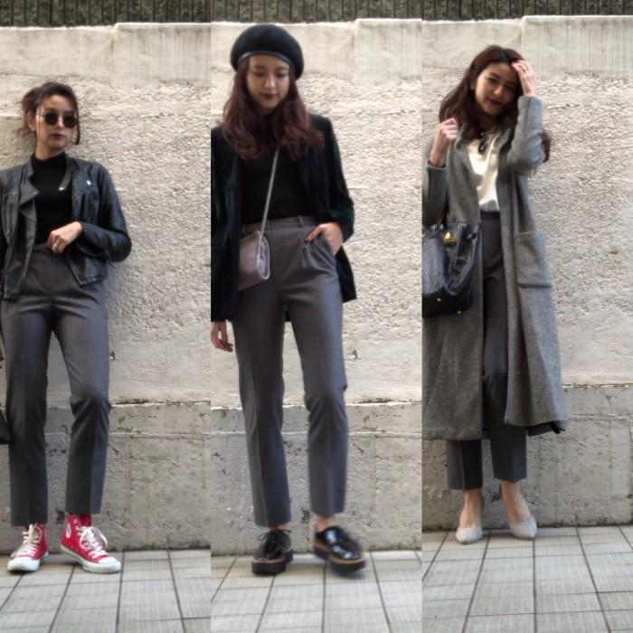オトナ女子はみな持ってる! 定番グレーパンツ冬の着こなし3コーデ デイリーアイテム着回し3Days #52
