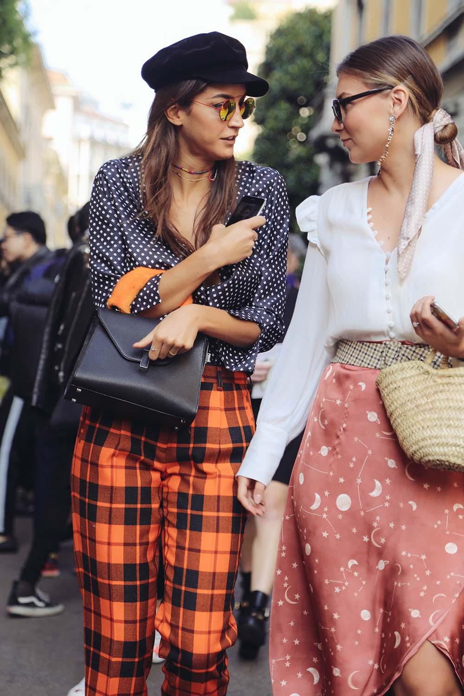 柄パンツは明るめに…2018年マネたいファッション10選をミラノで激写!