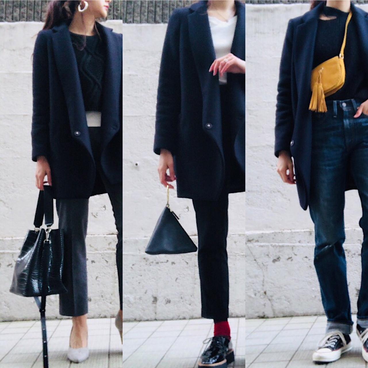 着やせ効果が…! 2018年も定番「チェスターコート」着こなし3コーデ|デイリーアイテム着回し3Days #53