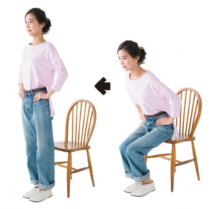 """生活の中で""""痩せスクワット""""! 椅子から立ち上がるときはアレを使わずに…"""