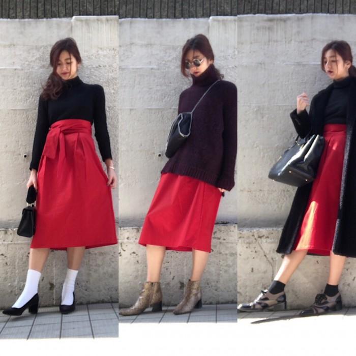 GUのチノスカート… スッキリ細見え! 冬春オトナの着こなし3選|デイリーブランド着回し3Days #59