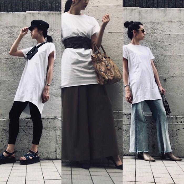 秋もOK! ZARAの白Tシャツ…絶対高見え「大人コーデ」3選   デイリーアイテム着回し3Days #87