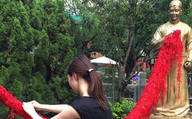 ロマンチックな赤い糸ならぬ紐で縁結び!【香港】パワースポット女子旅・体験レポ