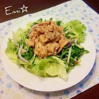 野菜もいっぱい食べられる!豚しゃぶサラダ生活♪