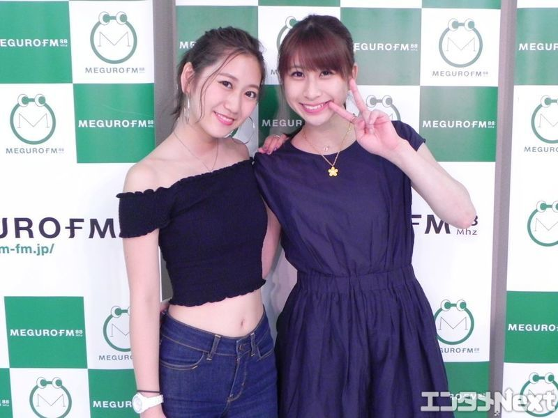 """古橋舞悠(左)と関谷真由の二人で「BESTIEM」を結成。親友を意味する""""BESTIE""""に、二人のイニシャル「M」を加えたものだ。"""