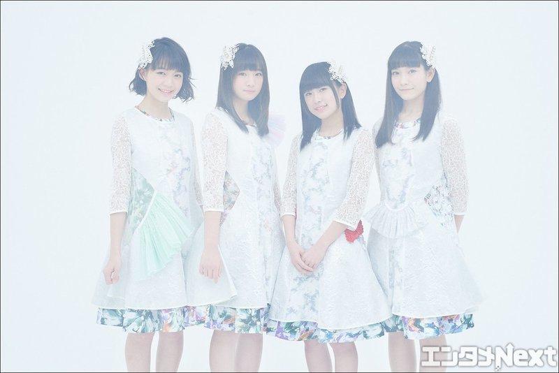 メンバーは左から神﨑風花、山崎愛、寺口夏花、風間玲マライカの4人。山崎が中2で、他の全員が高校生という若いグループだ。