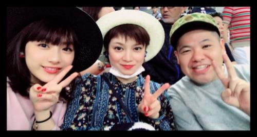 平愛梨&祐奈、親友・三瓶とサッカー生観戦