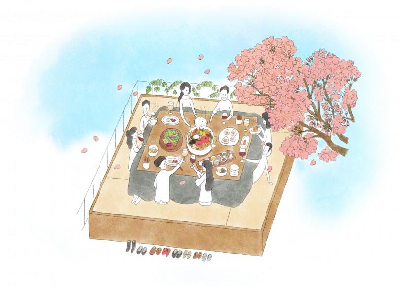 「also Soup Stock Tokyo のおでん」テラス限定お花見コース