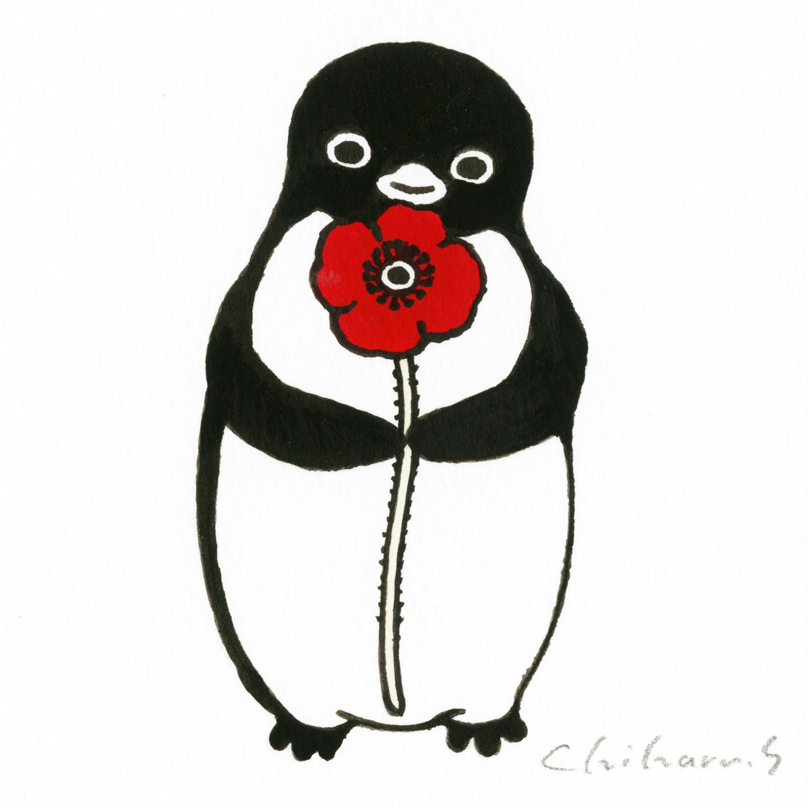 坂崎千春 展 ペンギン百態Ⅲ 色とりどり