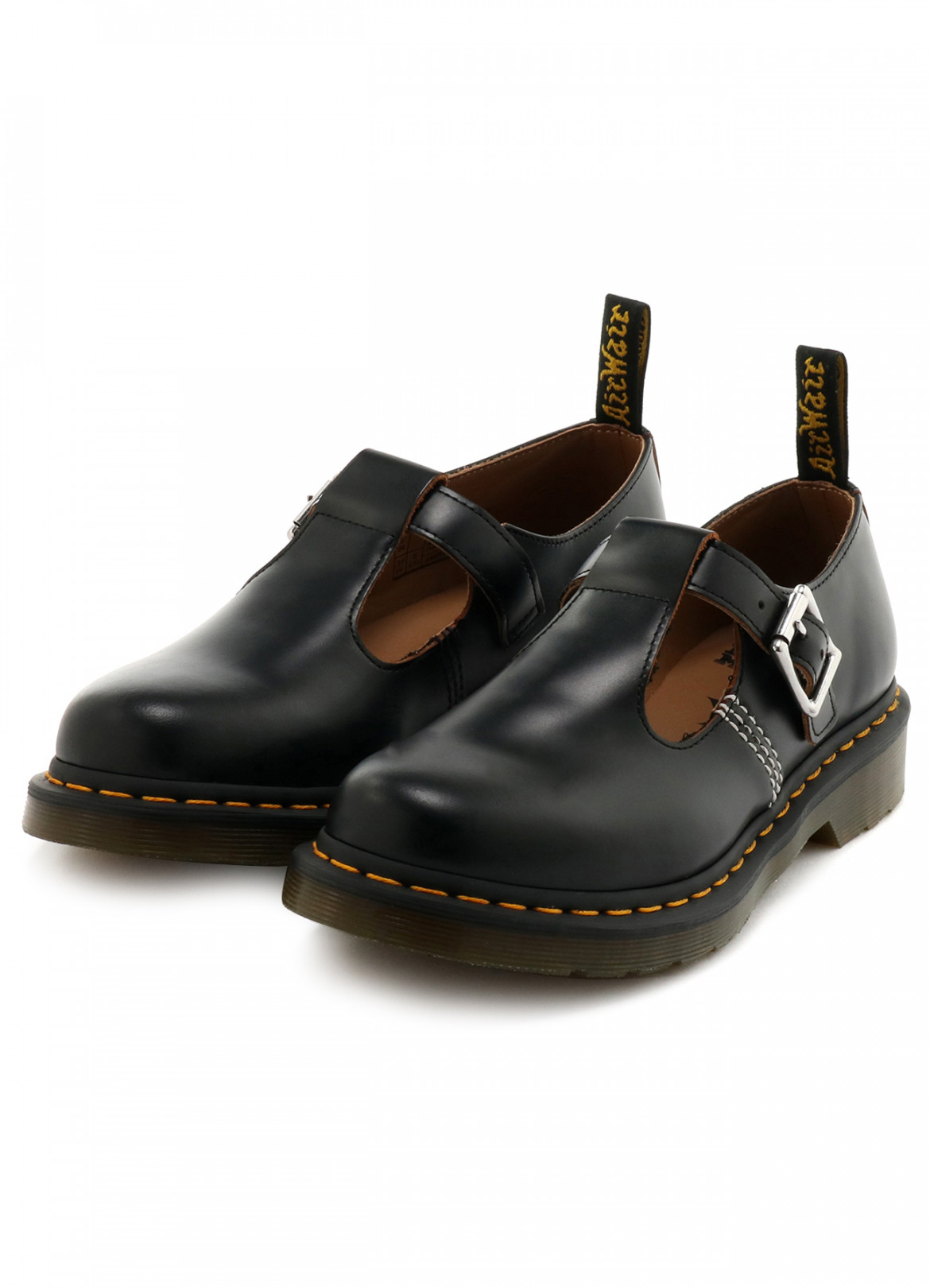 「Y's Dr. Martens POLLEY T-BAR STRAP SHOES」(ブラック/3万8,000円)