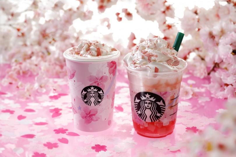 スタバから満開の桜を表現した日本限定ドリンク「さくらフルミルクラテ」、「さくらフルフラペチーノ®」や限定タンブラー&マグカップなどが登場