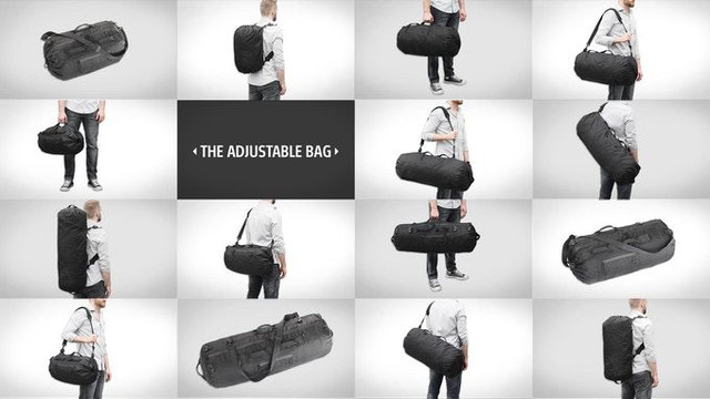 ひとつあると重宝します!荷物に合わせてサイズが変わるバッグ
