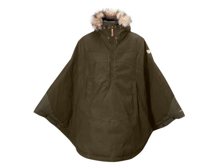 着れば気分はスナフキン!耐水性ありな中綿入りのケープ型ジャケット