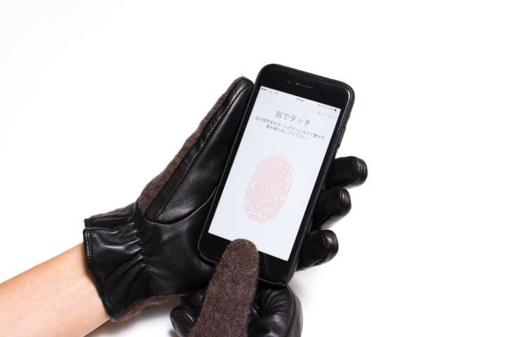寒い日でも手袋のまま指紋認証のキーロックができるんです