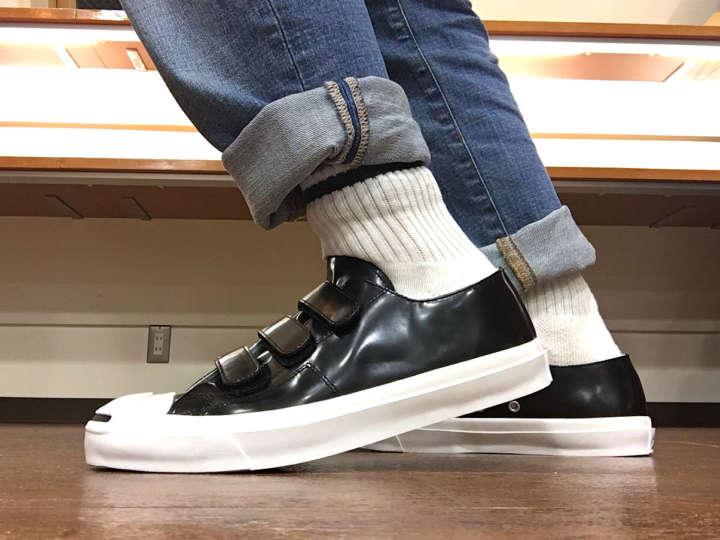 定番「ジャックパーセル」がまるで革靴のような上品な仕上がりに!