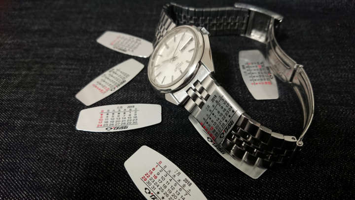 懐かしい?新鮮?時計のバンドに巻くカレンダーを取り付けてみた!