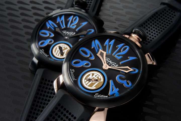 青×黒がかっこいい!イタリア時計とサッカー界の名門がコラボレーション