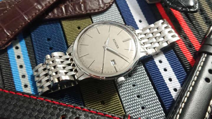 シンプル&レトロなドーム風防の機械式9958円腕時計を買ってみた!
