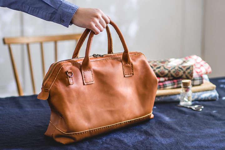 道具付き通信講座でクタッとした本革バッグを作ろう!