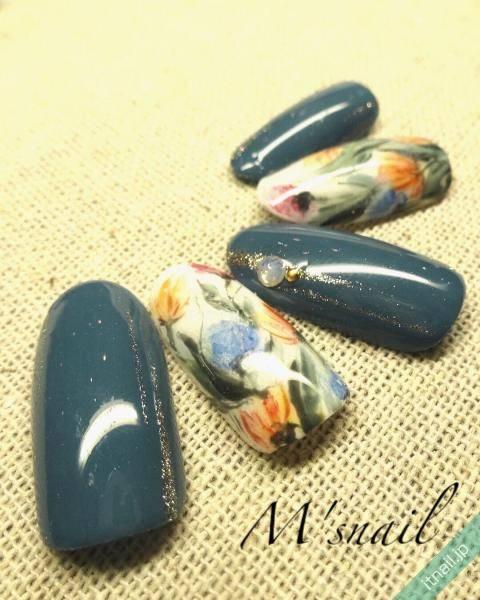 季節感を大事に♪秋ネイルにボタニカルを上手く取り入れるコツ!