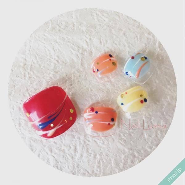 【夏祭り×フットネイル♡】見るだけでも楽しいデザイン特集!