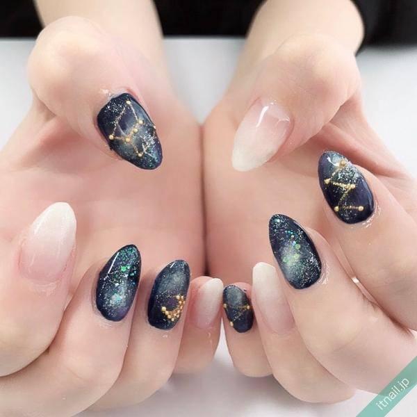 星座ネイル | 夜空に輝くお星さま♡人気のデザインをたっぷり紹介!
