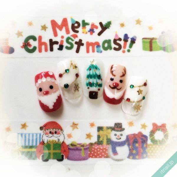 超可愛いくて胸キュン♡絶対真似したいクリスマスネイル画像集