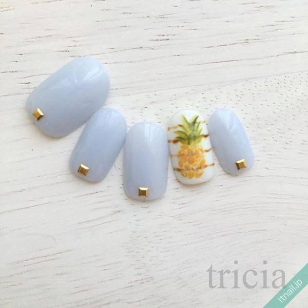 パイナップル、すいか、レモン!大人女子にもおすすめの夏のフルーツネイル