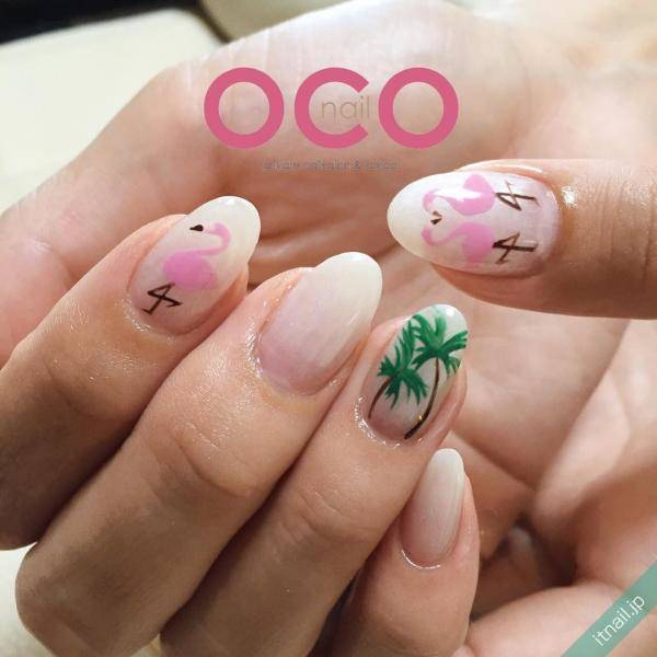 フラミンゴネイルで差をつける!ピンクがかわいい夏の指先