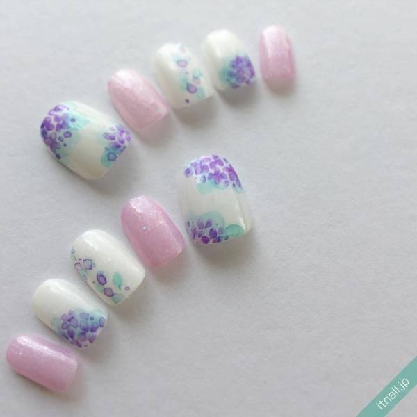 レイニーシーズン♡一年に一度の楽しみ!紫陽花ネイル