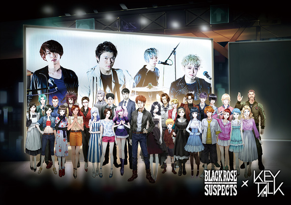 KEYTALK×「Black Rose Suspects」 (okmusic UP's)