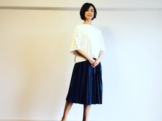 ストライプ+花柄の刺繍のブルーシャツは秋に大活躍!【ZARAだけ着回し9/1-3】