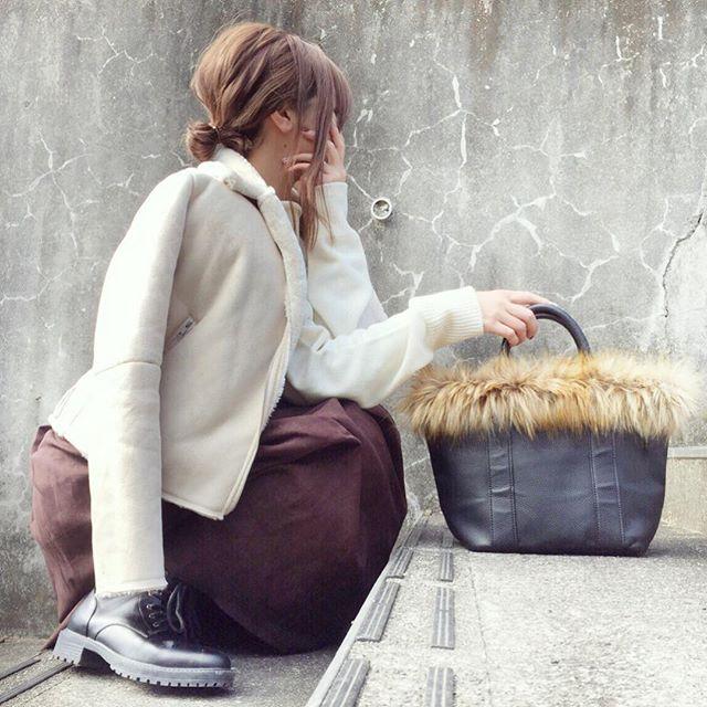 外回りの多い日は防寒重視のGUスタイル【40代デイリーコーデ】