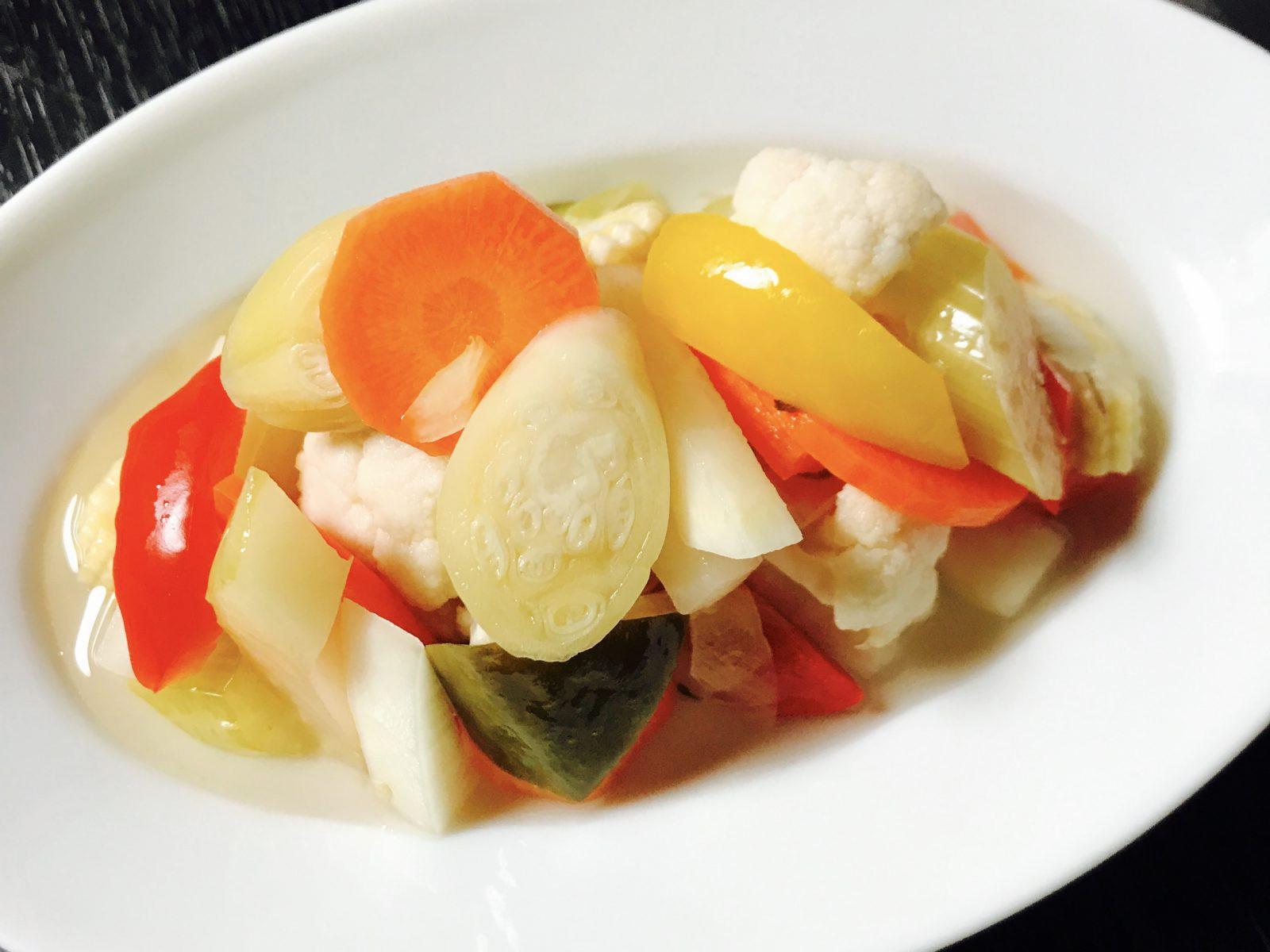 「野菜ピクルス」で正月太りをリセット。酸っぱすぎない永久保存レシピ【シェフのテク】