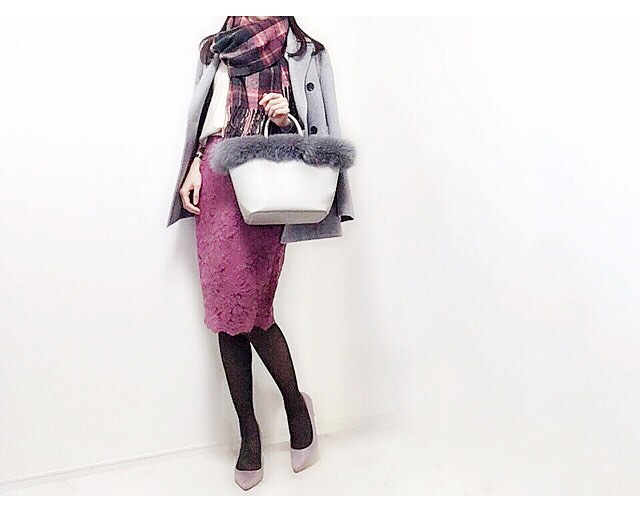 歓迎会はGUの新作レーススカートで女っぷりUP【40代の毎日コーデ】
