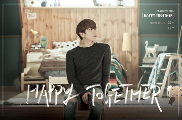 パク・ヒョシンの新曲『Happy Together』が10つの韓国音源チャートで1位を獲得した。 提供:Jellyfish