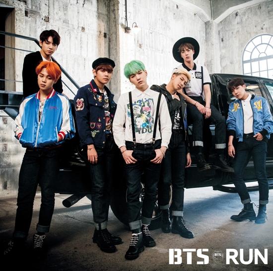 ニューシングル「RUN」でタワーレコードのデイリーセールスランキングで1位を達成した防弾少年団。|Big Hit Entertainment