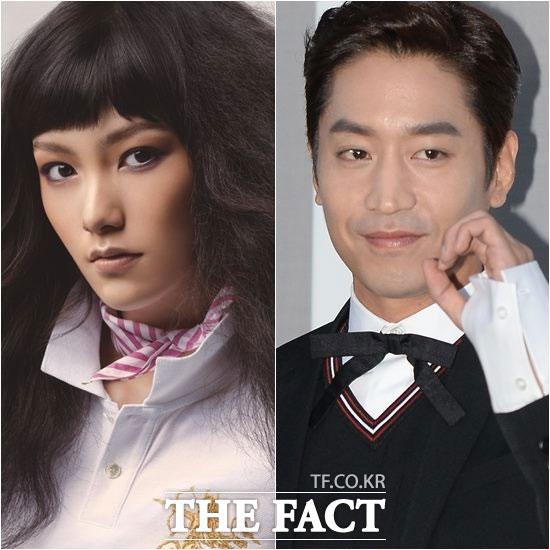 SHINHWA(神話)のエリックと結婚することを発表した女優ナ・ヘミ(左)