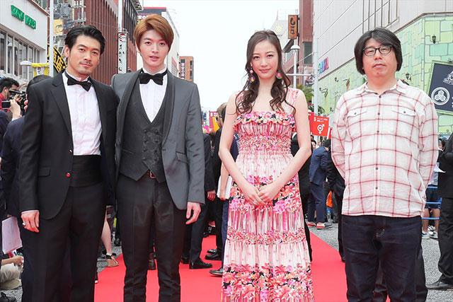 左から武田裕光、ソンジェ、ちすん、チョ・ソンギュ監督