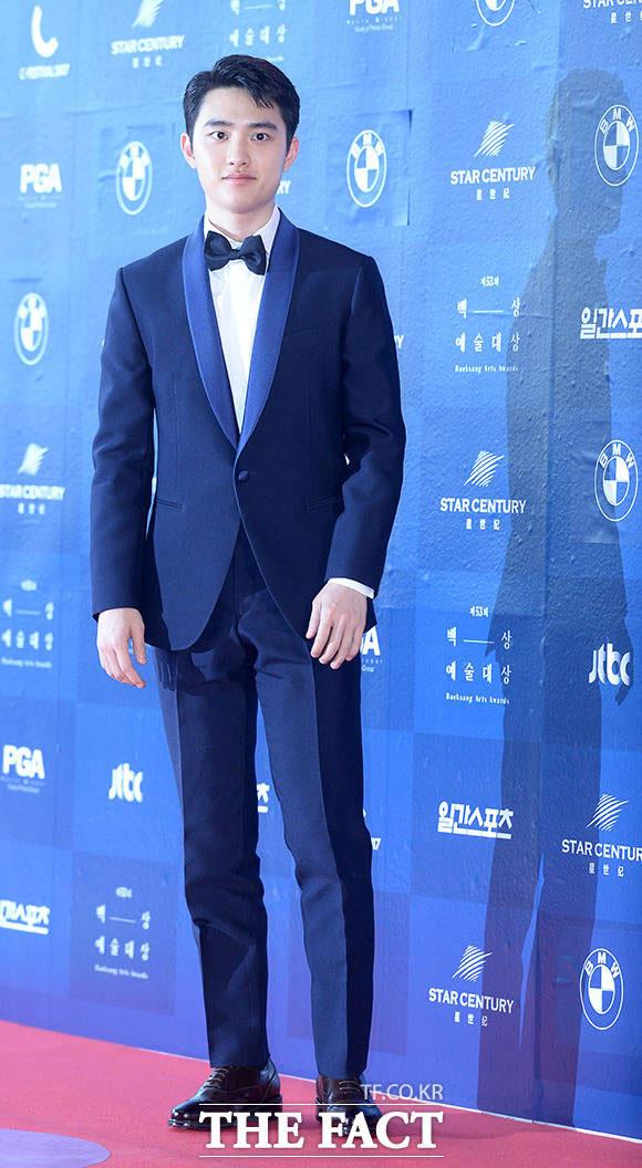 EXOのディオが3日午後、ソウル・江南区で開かれた「第53回百想芸術大賞」に参加した。