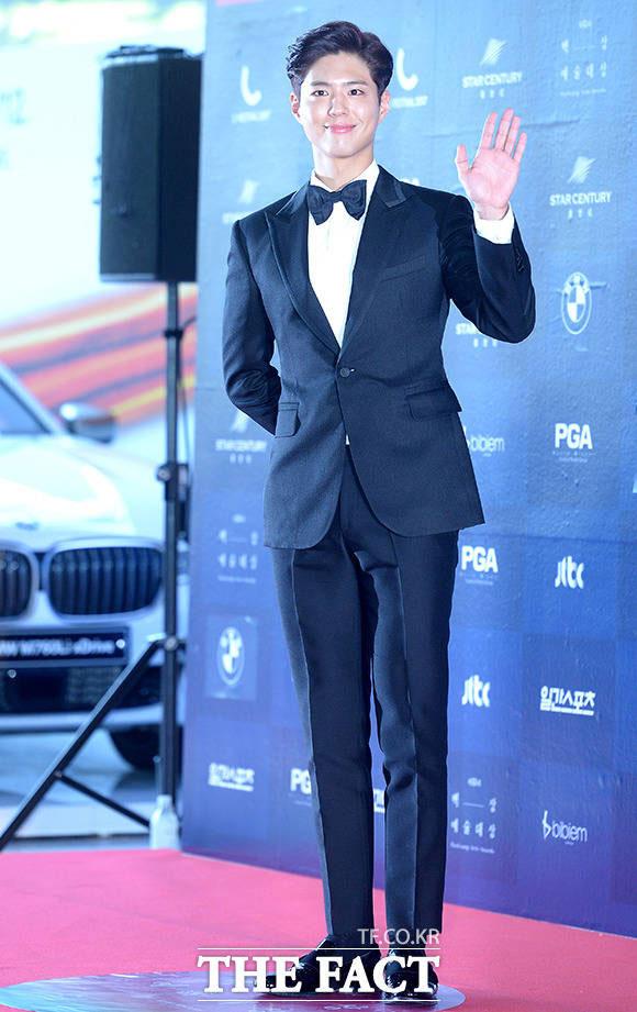 俳優のパク・ボゴムが3日午後、ソウル・江南区で開かれた「第53回百想芸術大賞」に参加した。