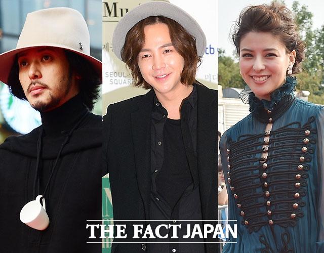 オダギリジョー、チャン・グンソク, 藤井美菜(左から)