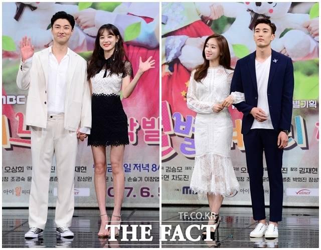 2日午後、MBCドラマ「いろいろな嫁」の制作発表会が開催された。写真は、ドラマの男女主役を演じるチャ・ドジンと元AFTERSCHOOLのジュヨン、T-ARAのウンジョン、カン・ギョンジュン。(左側から)