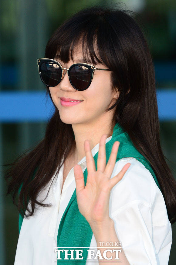 女優のイム・スジョンが今月4日、ハワイでの撮影のため、仁川国際空港から出国した。