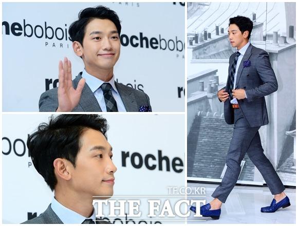 歌手のRAINが13日午後、Roche Boboisの韓国進出1周年記念イベントに参加した。