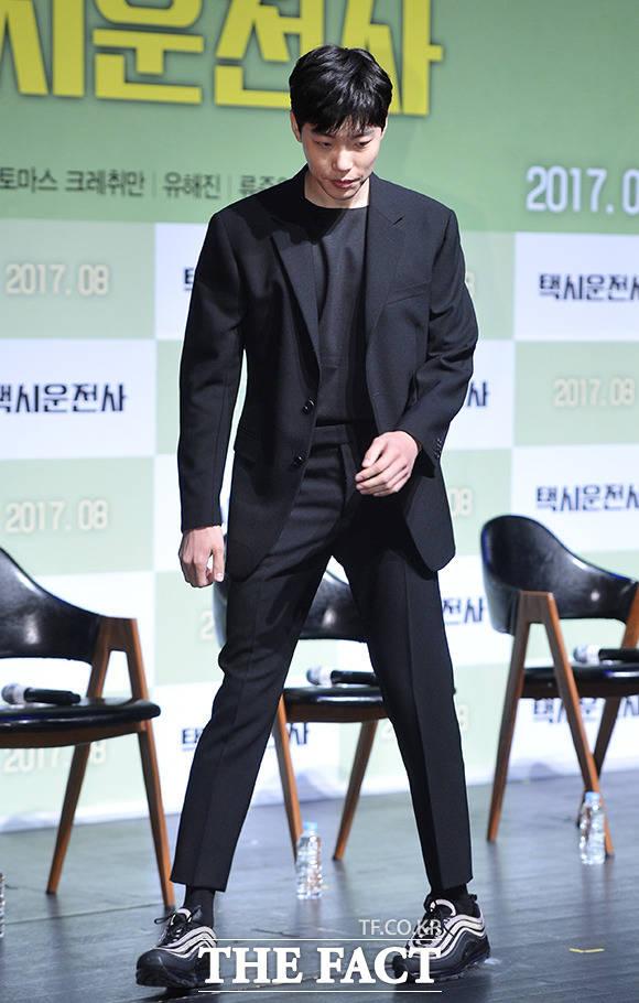 リュ・ジュンヨルが20日、ソウル市内の映画館で開催された映画「タクシー運転手」制作発表会に出席。
