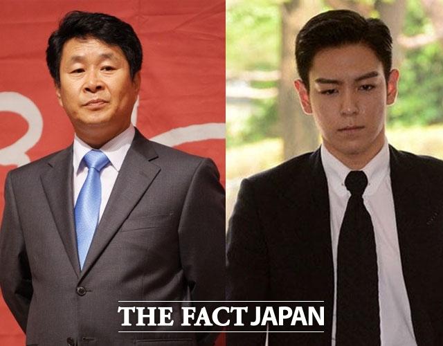 BIGBANGのT.O.P(右)と俳優キ・ジュボン。