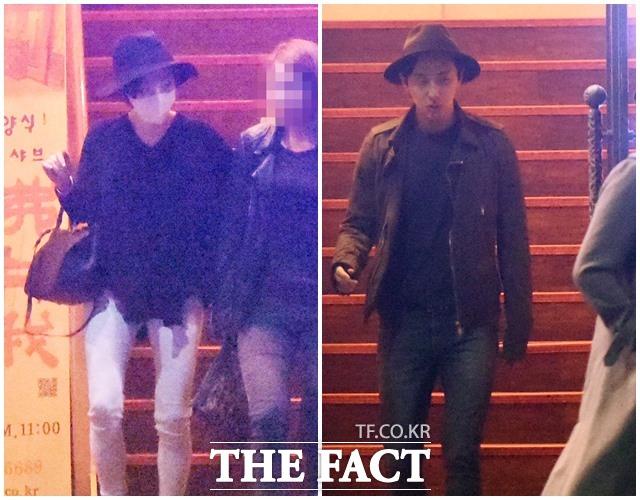 写真は2014年5月6日、ジョン・メイヤーの来韓公演を観覧したあと、同じレストランで夕食を終え、別々店を出るところをキャッチしたもの。|THE FACT DB