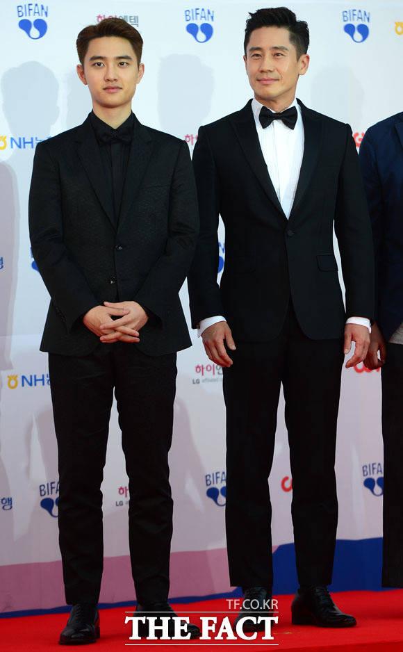 13日午後、EXOのD.O.と俳優のシン・ハギュンが第21回富川国際ファンタスティック映画祭に登場。